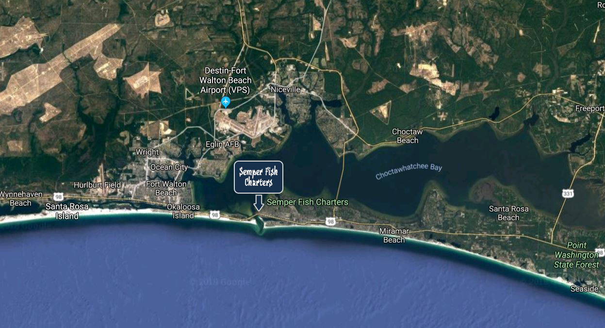 Directions to Semper Fishing Charters in Destin Harbor